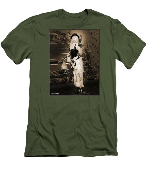 Retro Steam Punk Vixen Men's T-Shirt (Athletic Fit)