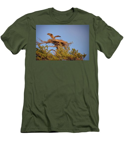 Men's T-Shirt (Slim Fit) featuring the photograph Returning To The Nest by Rick Berk