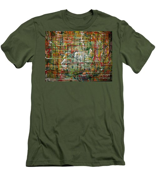 Men's T-Shirt (Slim Fit) featuring the painting Revelation by Jacqueline Athmann
