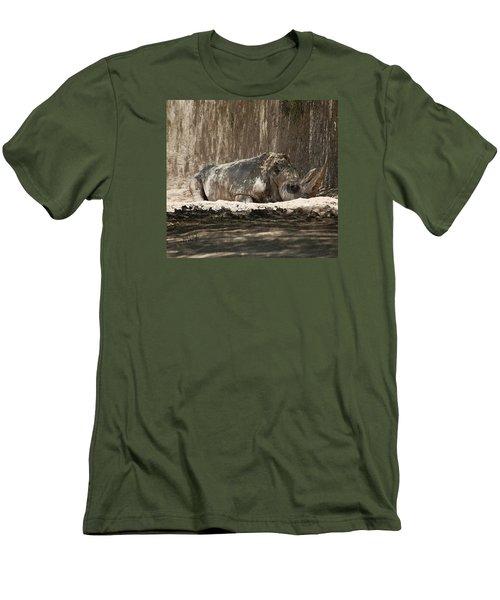 Rhino Men's T-Shirt (Slim Fit) by Walter Chamberlain