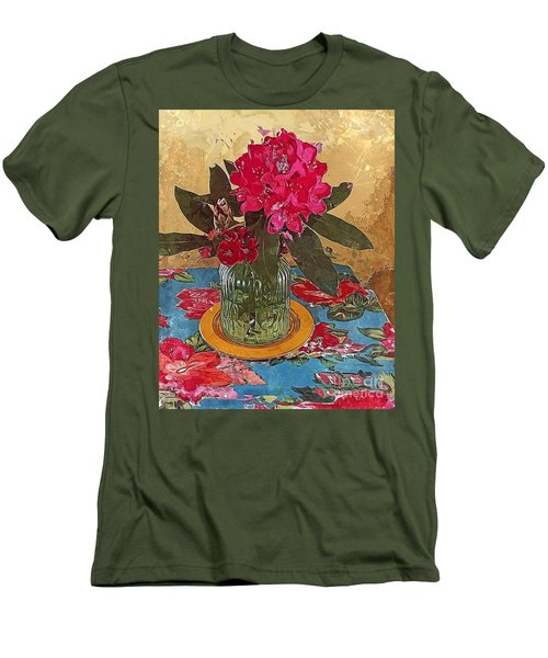 Men's T-Shirt (Slim Fit) featuring the digital art Rhododendron by Alexis Rotella