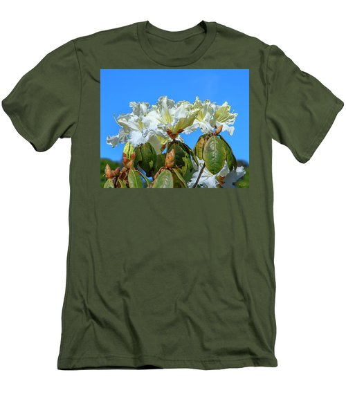 Rhododendron Ciliicalyx Dthn0213 Men's T-Shirt (Athletic Fit)