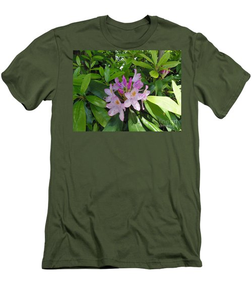 Men's T-Shirt (Slim Fit) featuring the photograph Rhododendron by Daun Soden-Greene