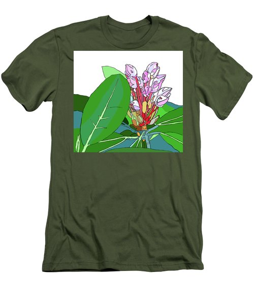 Rhododendron Graphic Men's T-Shirt (Slim Fit) by Jamie Downs