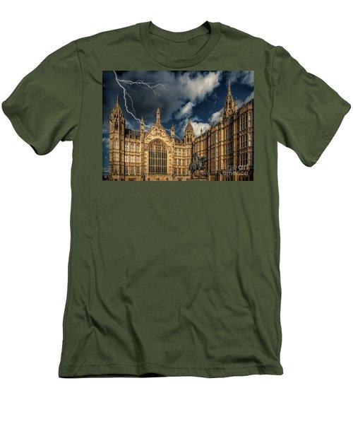 Men's T-Shirt (Slim Fit) featuring the photograph Richard The Lionheart by Adrian Evans
