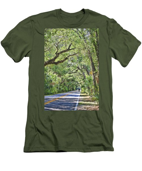 Riding The Ormond Loop Men's T-Shirt (Slim Fit) by Deborah Benoit