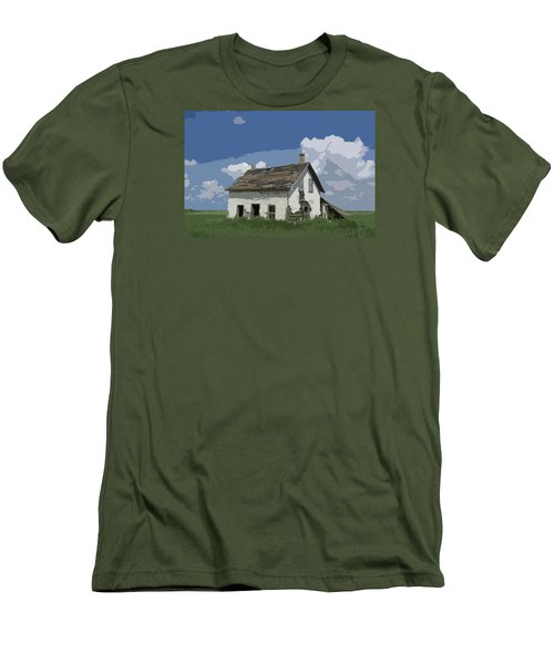 Riel Period Homestead Men's T-Shirt (Slim Fit) by Ellery Russell
