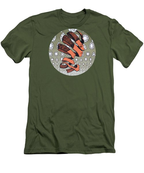 Men's T-Shirt (Slim Fit) featuring the painting Rind Beauty by Malinda Prudhomme