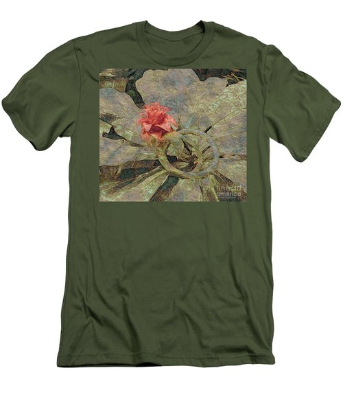 Men's T-Shirt (Slim Fit) featuring the photograph Ring Around The Posy by Kathie Chicoine