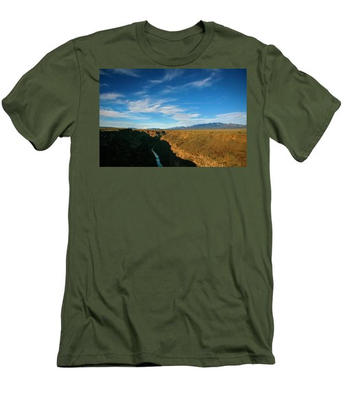Men's T-Shirt (Slim Fit) featuring the photograph Rio Grande Gorge Nm by Marilyn Hunt