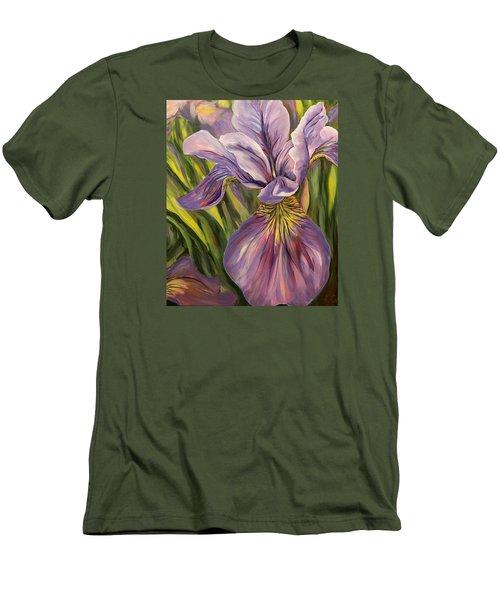 Ripe Iris Men's T-Shirt (Slim Fit) by Trina Teele