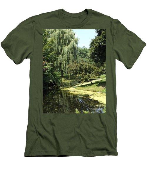 River Flows Through Men's T-Shirt (Slim Fit) by Erick Schmidt