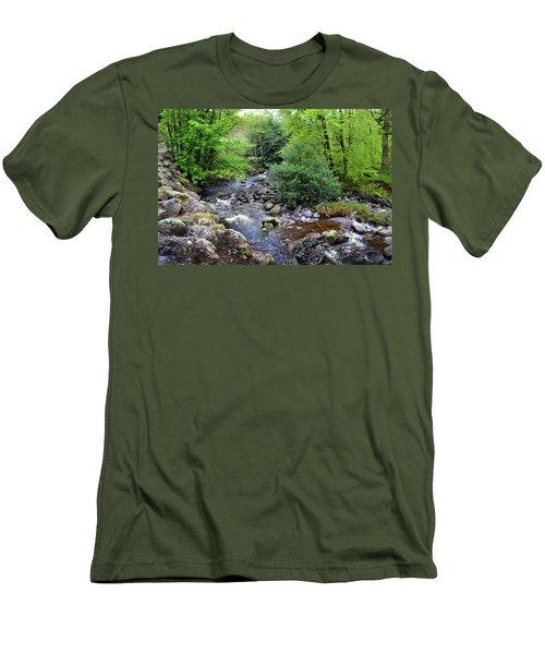 River Mahon Waterford Ireland..jpg Men's T-Shirt (Slim Fit) by Terence Davis