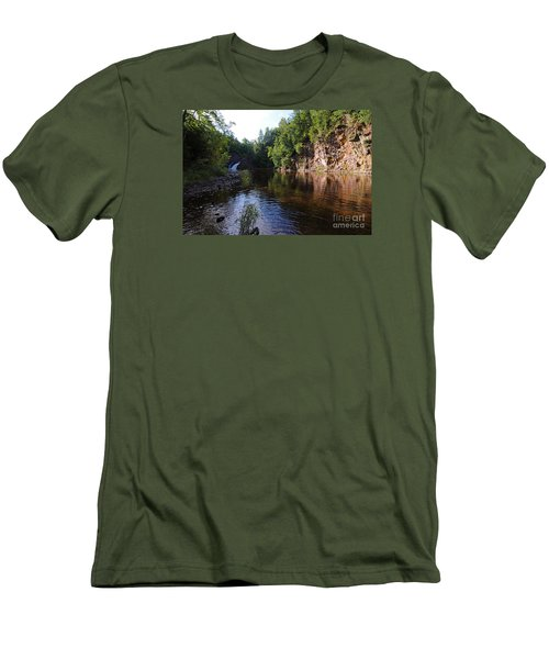 Men's T-Shirt (Slim Fit) featuring the photograph River Reflections by Sandra Updyke