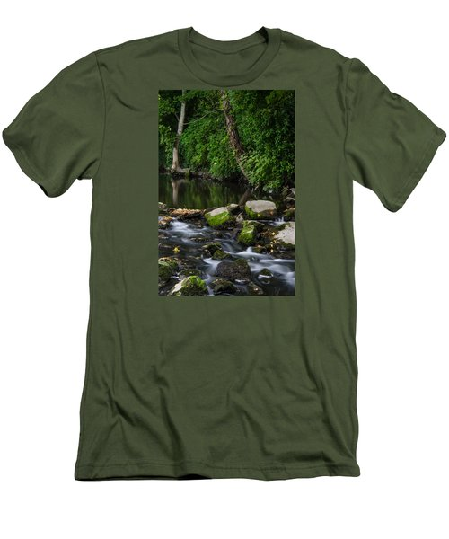 River Tolka Men's T-Shirt (Slim Fit) by Martina Fagan