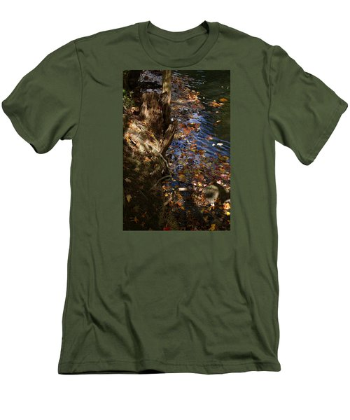 Men's T-Shirt (Slim Fit) featuring the photograph Riverbank View by Margie Avellino