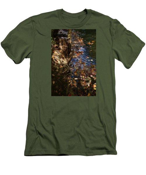 Riverbank View Men's T-Shirt (Slim Fit) by Margie Avellino