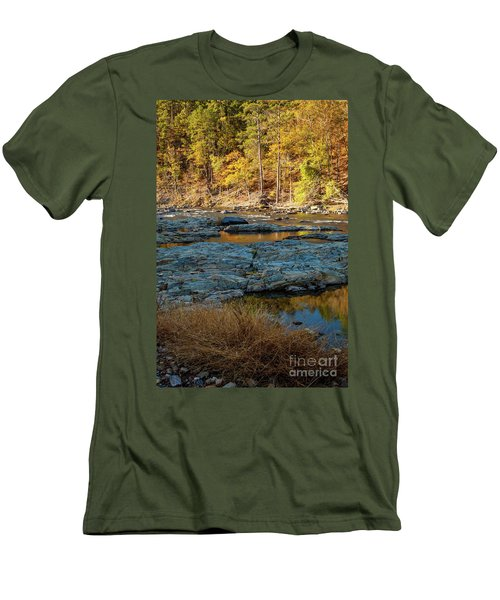 Men's T-Shirt (Slim Fit) featuring the photograph Riverside by Iris Greenwell