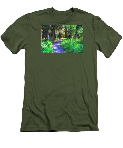 Road Less Traveled Men's T-Shirt (Athletic Fit)