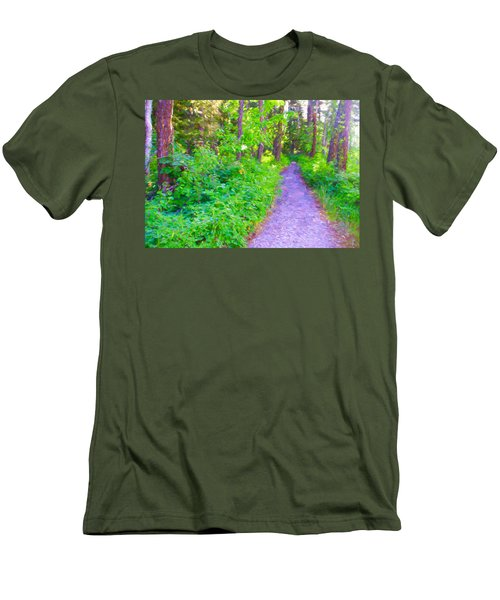 Road More Traveled Men's T-Shirt (Slim Fit) by Susan Crossman Buscho
