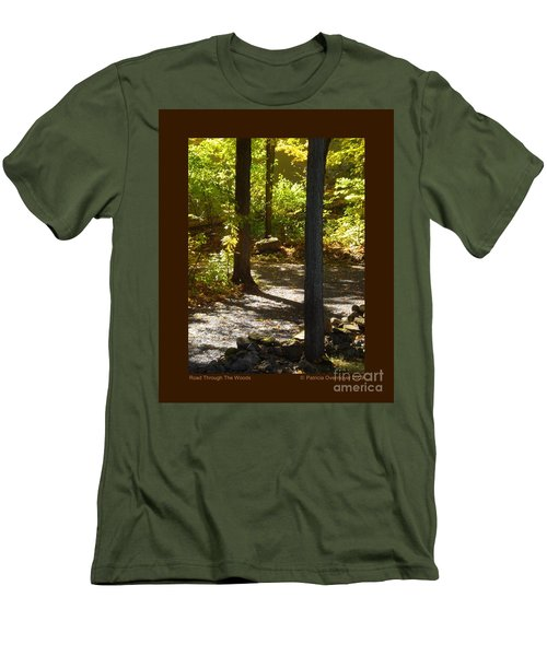 Road Through The Woods Men's T-Shirt (Slim Fit) by Patricia Overmoyer