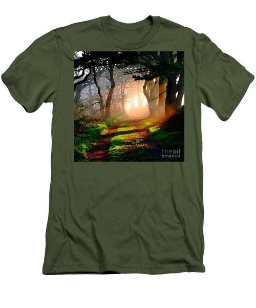 Road Through The Woods Men's T-Shirt (Athletic Fit)