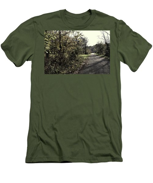 Road To Covered Bridge Men's T-Shirt (Slim Fit) by Joanne Coyle