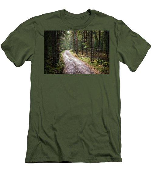 Road To The Light Men's T-Shirt (Slim Fit) by Teemu Tretjakov