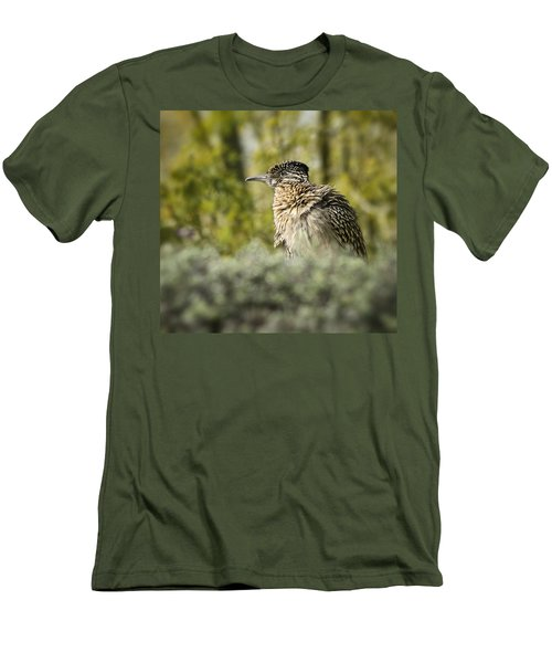 Roadrunner On Guard  Men's T-Shirt (Slim Fit) by Saija  Lehtonen