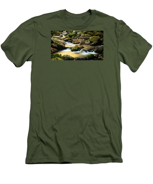 Men's T-Shirt (Slim Fit) featuring the photograph Roaring Fork River by Monte Stevens