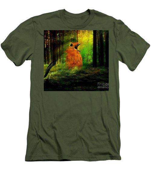 Robin In The Forest Men's T-Shirt (Athletic Fit)