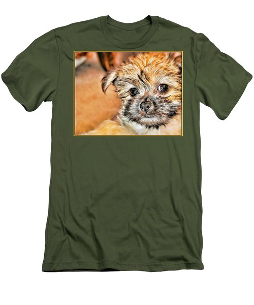 Men's T-Shirt (Slim Fit) featuring the photograph Robin by Mindy Newman