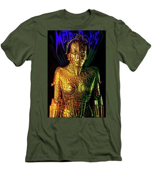 Robot Of Metropolis Men's T-Shirt (Athletic Fit)