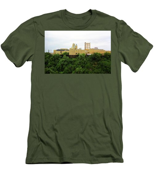 Men's T-Shirt (Slim Fit) featuring the photograph Rochester, Ny - Factory On A Hill by Frank Romeo