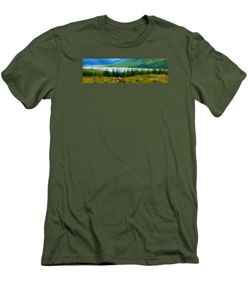 Rock Cairns In Scotland Men's T-Shirt (Slim Fit) by Judi Bagwell