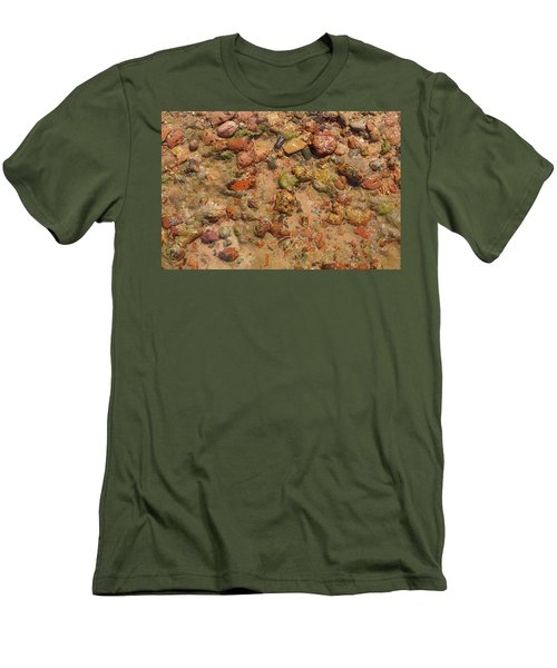 Men's T-Shirt (Slim Fit) featuring the photograph Rocky Beach 5 by Nicola Nobile