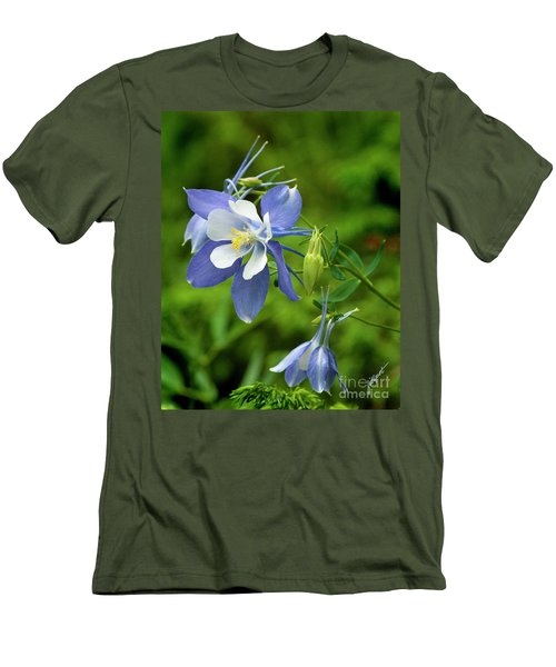 Rocky Mountain Blue Columbine Men's T-Shirt (Athletic Fit)