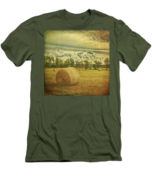 Men's T-Shirt (Athletic Fit) featuring the photograph Rollin' Hay by Lewis Mann