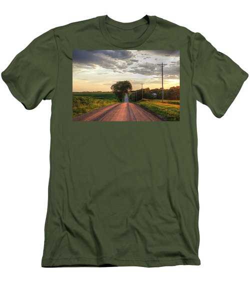 Rolling Down A Country Road Men's T-Shirt (Slim Fit) by Karen McKenzie McAdoo