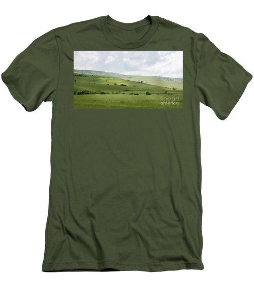 Rolling Landscape, Romania Men's T-Shirt (Athletic Fit)