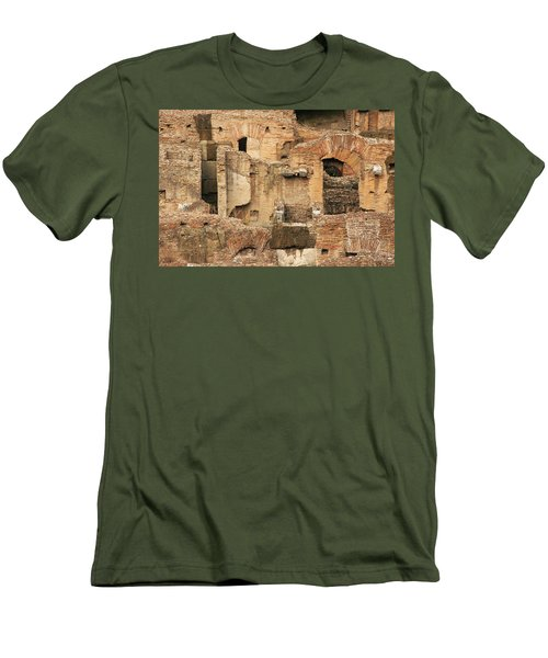 Men's T-Shirt (Slim Fit) featuring the photograph Roman Colosseum by Silvia Bruno