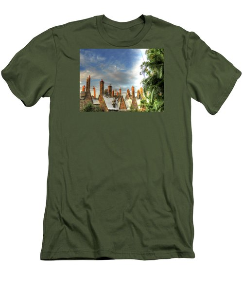 Men's T-Shirt (Slim Fit) featuring the photograph rooftops Hogsmeade by Tom Prendergast