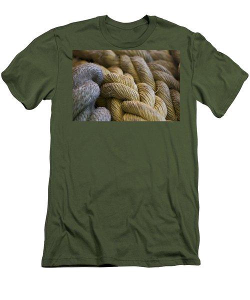 Rope  Men's T-Shirt (Slim Fit) by Henri Irizarri