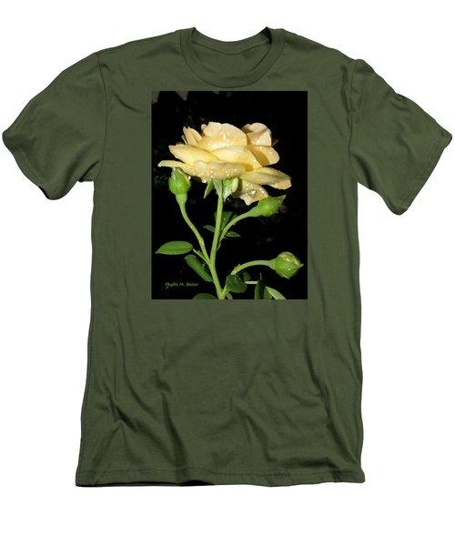 Rose 2 Men's T-Shirt (Slim Fit) by Phyllis Beiser