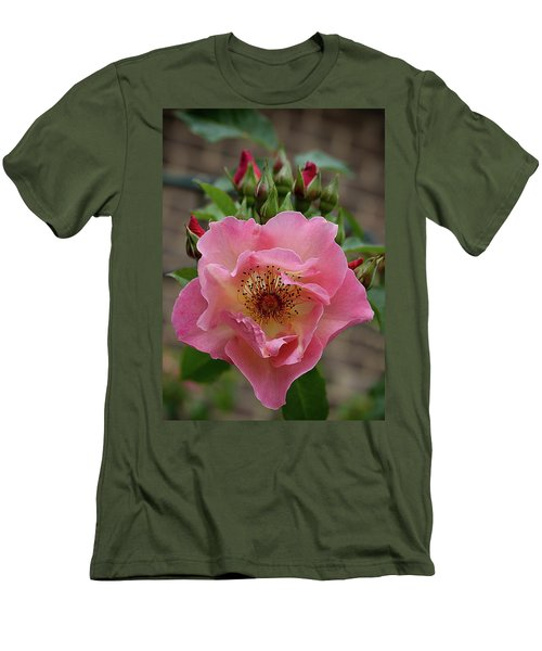 Rose And Buds Men's T-Shirt (Athletic Fit)