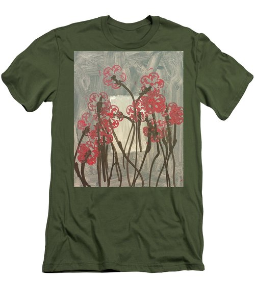 Rose Field Men's T-Shirt (Slim Fit) by Artists With Autism Inc