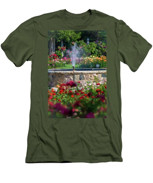 Rose Fountain Men's T-Shirt (Athletic Fit)