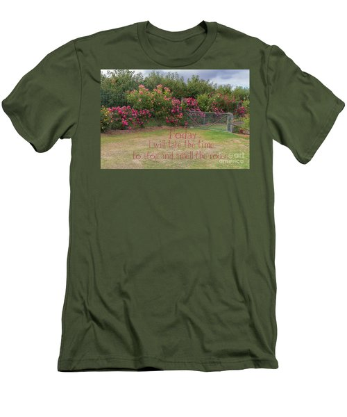 Rose Garden Men's T-Shirt (Slim Fit) by Elaine Teague