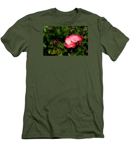 Rose Men's T-Shirt (Slim Fit) by Lora Lee Chapman