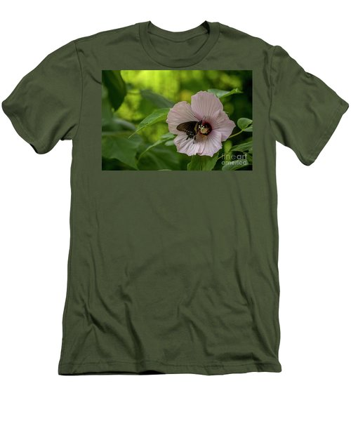 Rose Mallow Men's T-Shirt (Athletic Fit)